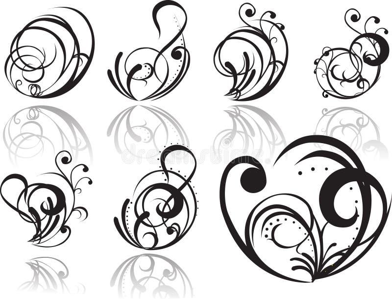 abstrakt tatuering vektor illustrationer