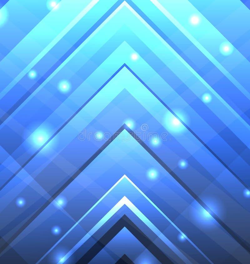 Abstrakt Techno bakgrund med genomskinliga pilar vektor illustrationer