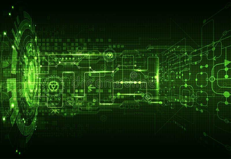 Abstrakt technologii komunikacyjnej zielony cyfrowy tło royalty ilustracja