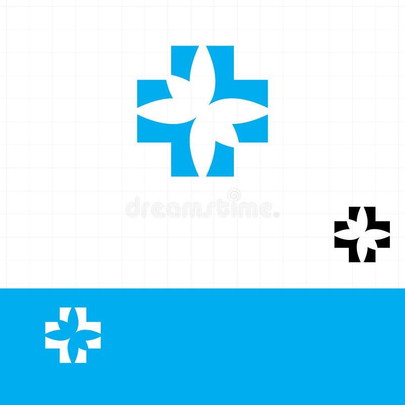 Abstrakt tecken för läkarundersökningblåttapotek royaltyfri illustrationer