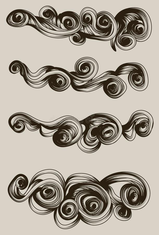 abstrakt tecknad hand för oklarhet samling vektor illustrationer