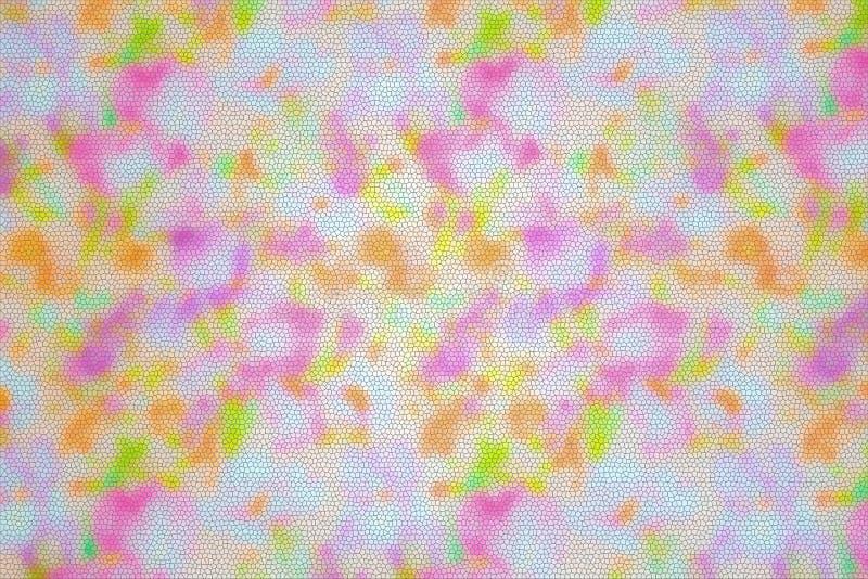 Abstrakt teckning för mosaik texturerat färgrikt för bakgrund härlig kulör mång- modell arkivfoton