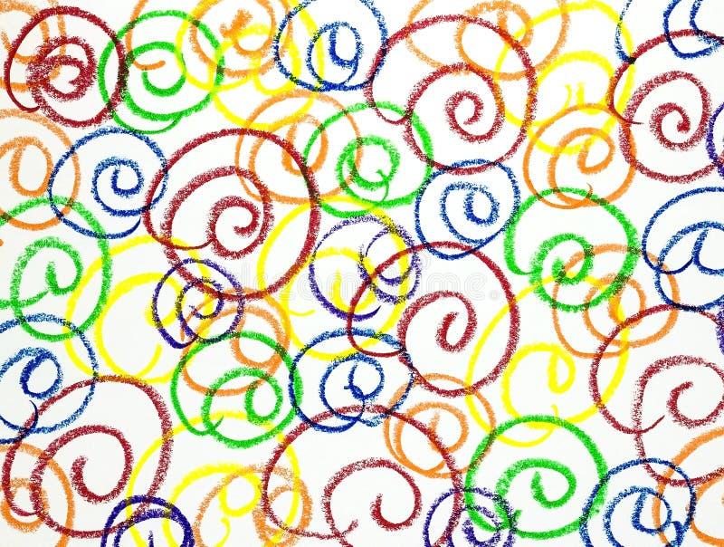 Abstrakt teckning på vitbok arkivfoton