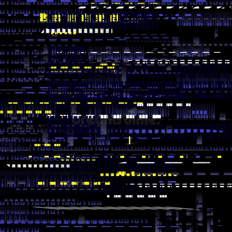 Abstrakt tekniskt felmörkerbakgrund royaltyfri illustrationer