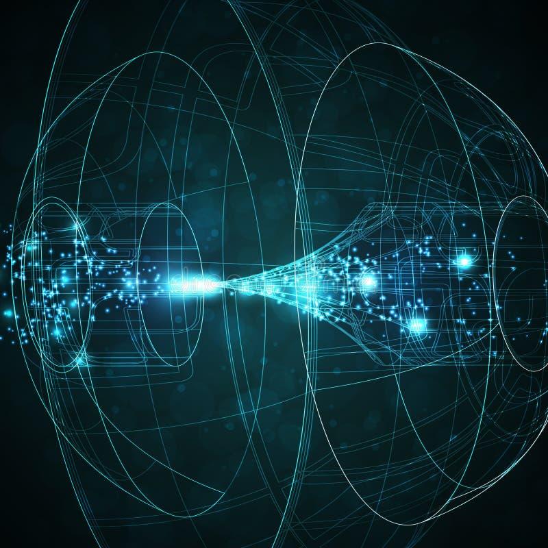 abstrakt teknologi royaltyfri illustrationer