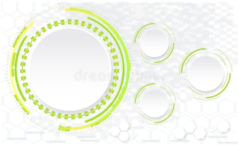 Abstrakt teknologi cirklar vektorbakgrund royaltyfri illustrationer