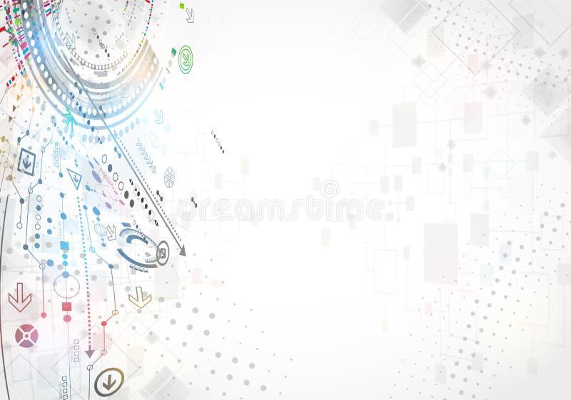 Abstrakt teknologiaffärsbakgrund stock illustrationer