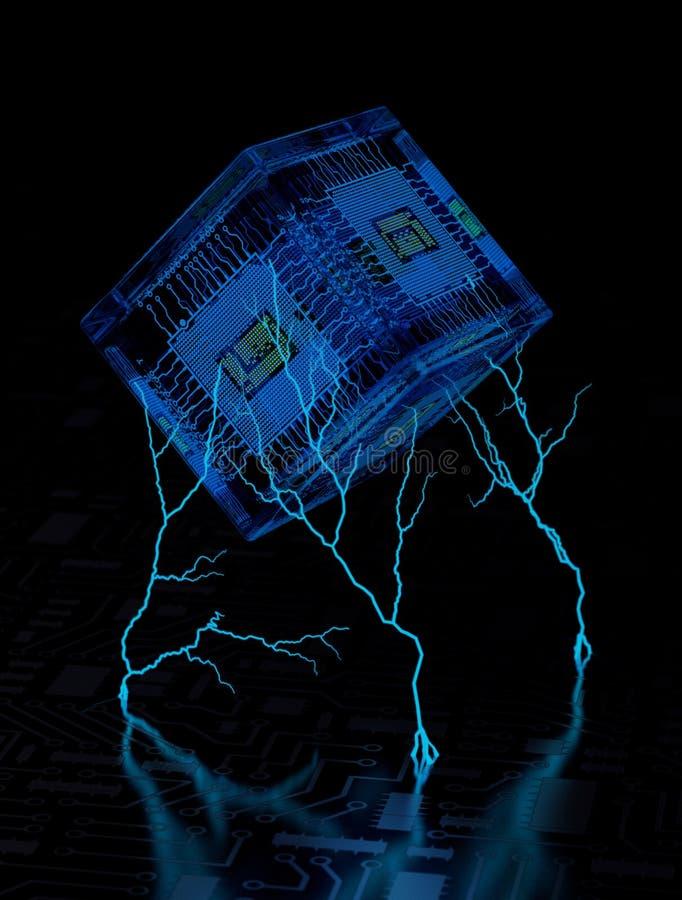 Abstrakt teknologibakgrund II arkivfoton