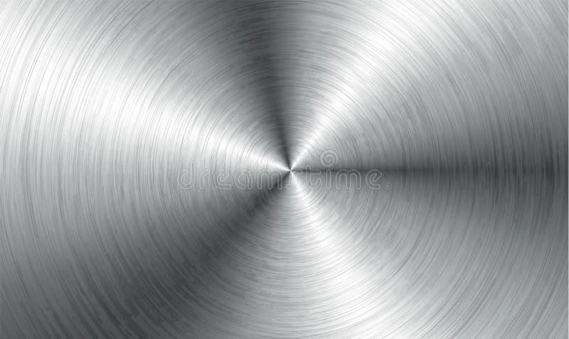 Abstrakt teknologibakgrund för metall Aluminium med polerad borstad textur, krom, silver, stål, för design stock illustrationer