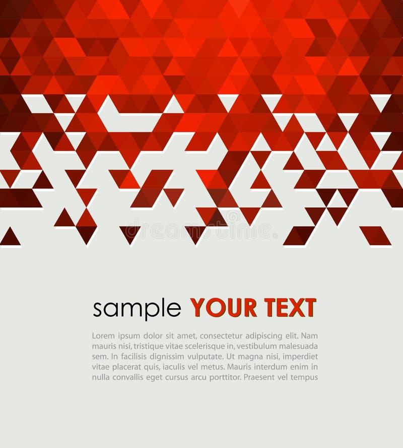 Abstrakt teknologibakgrund med triangeln vektor illustrationer