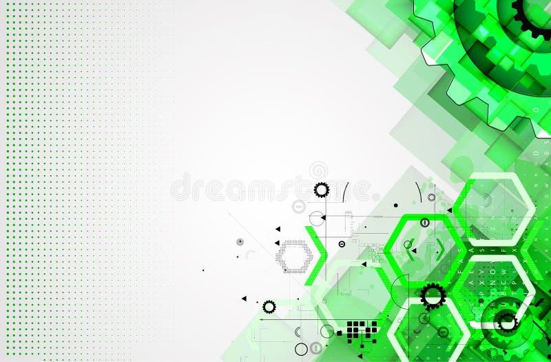 Abstrakt teknologibakgrundsaffär & utveckling stock illustrationer