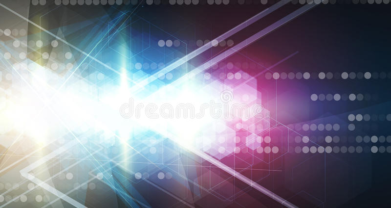 Abstrakt teknologibakgrundsaffär & utvecklingsriktning vektor illustrationer