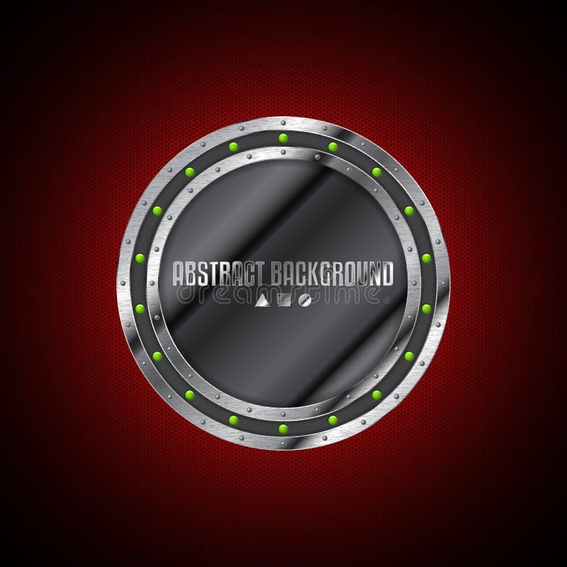 Abstrakt teknologibakgrundsdesign med den metalliska plattan för grunge stock illustrationer