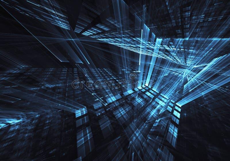 Abstrakt teknologiillustration, bakgrund, vektor illustrationer