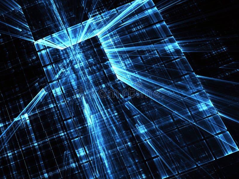 Abstrakt teknologiillustration, bakgrund, royaltyfri illustrationer