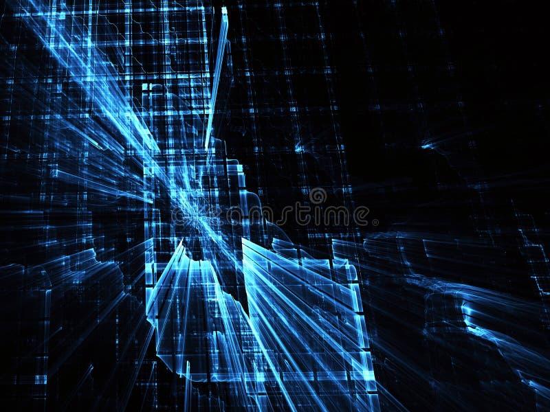 Abstrakt teknologiillustration, bakgrund, stock illustrationer