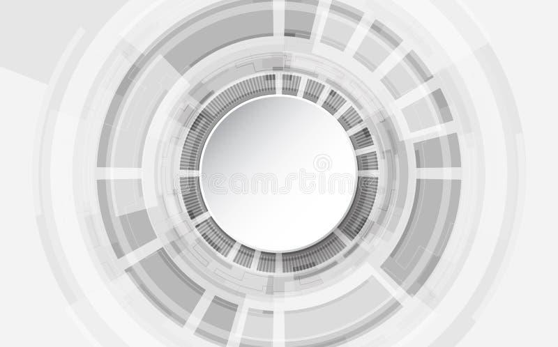 Abstrakt teknologiskt bakgrundsbegrepp med olika teknologibeståndsdelar illustrationvektor stock illustrationer
