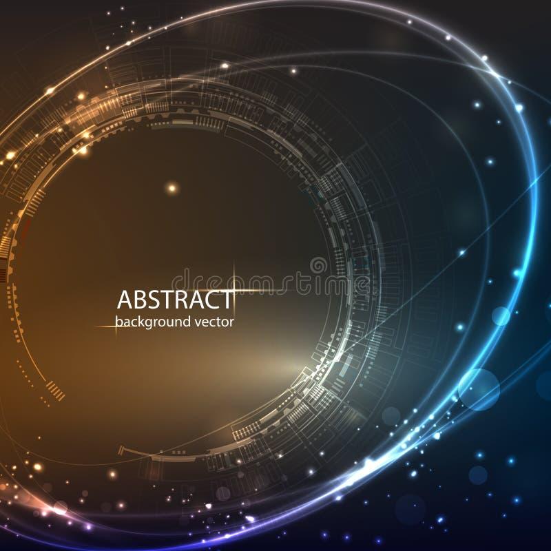 Abstrakt teknologivektorbakgrund F?r aff?r vetenskap, teknologidesign stock illustrationer