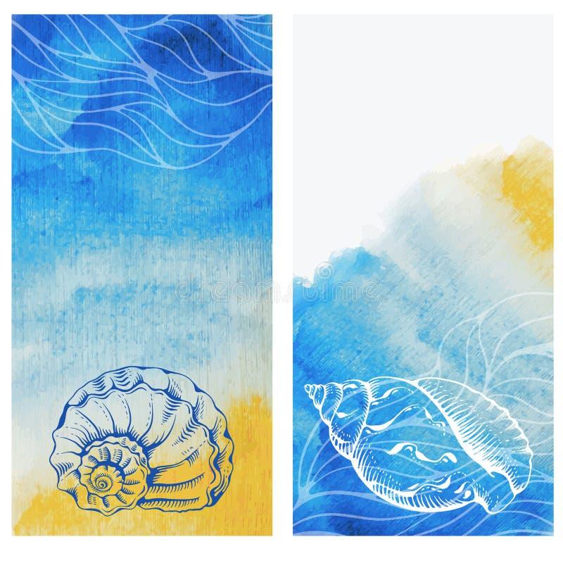 abstrakt tema för abstraktionbakgrundshav stock illustrationer