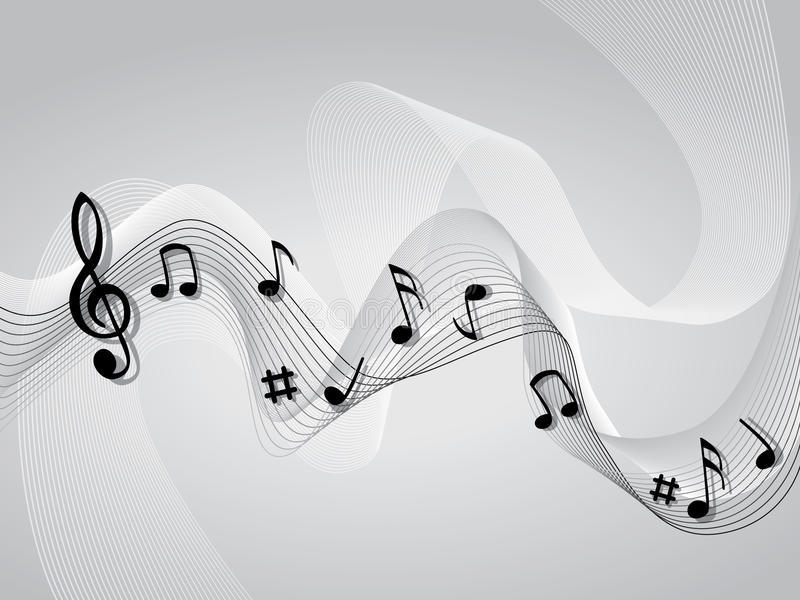 abstrakt tema för bakgrundsmusik royaltyfri illustrationer