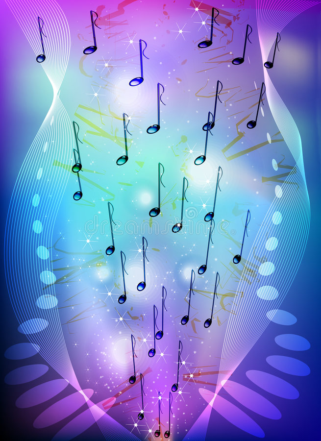 abstrakt tema för bakgrundsmusik vektor illustrationer