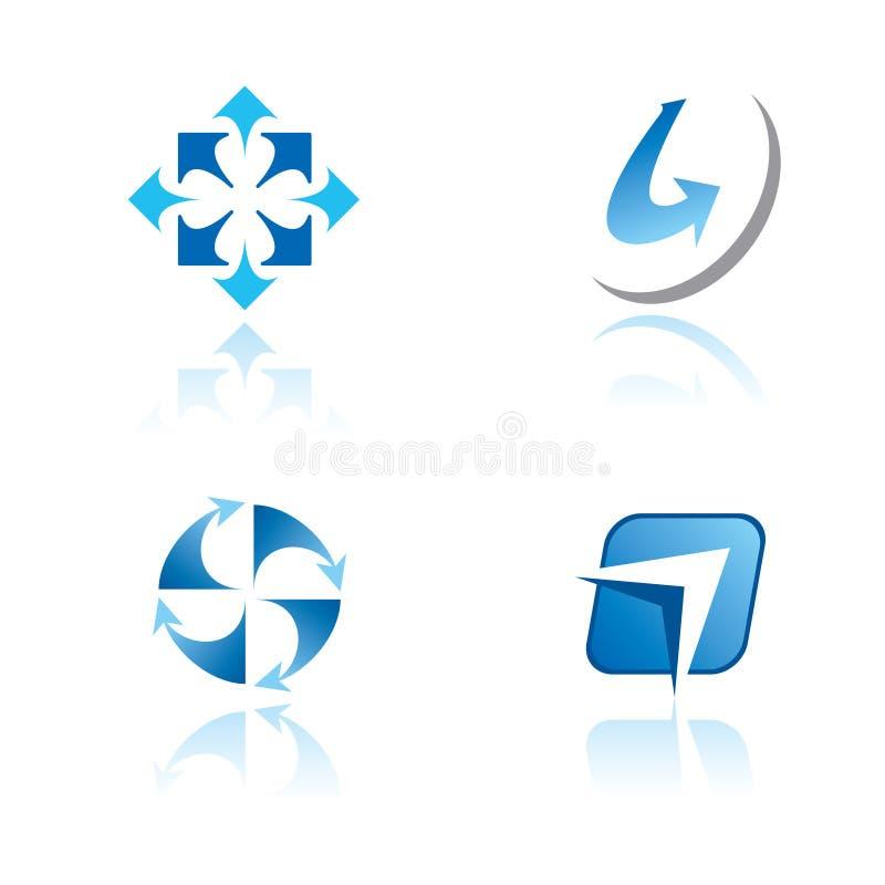 abstrakt tema för set symboler för diagram stock illustrationer