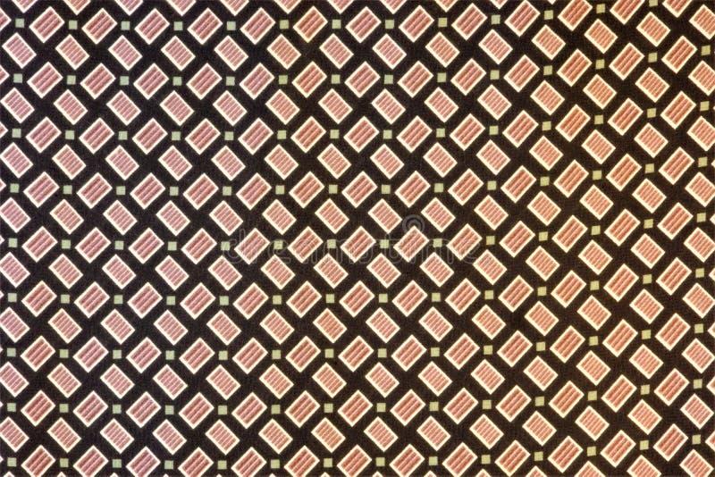 Abstrakt textilbakgrund som är bra för design och kreativitet av ferien Många geometriska former bildar en unik modell, stock illustrationer