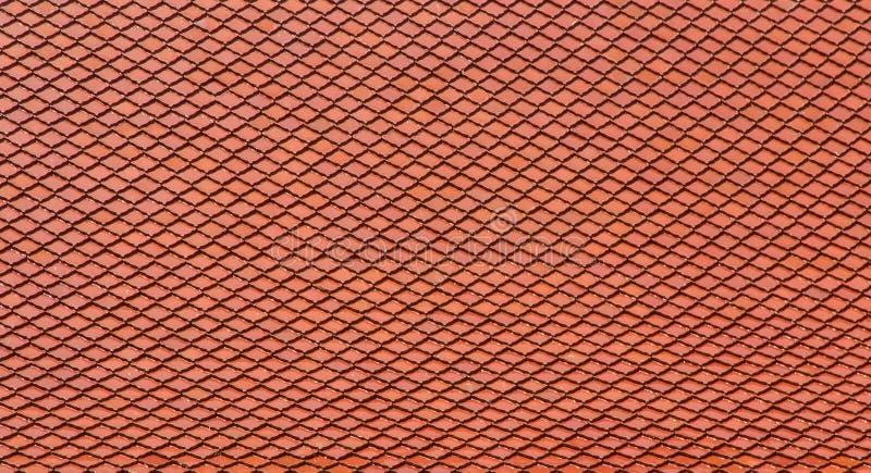 abstrakt textur av det gamla taket för röd överkant av templet buddha, architectu fotografering för bildbyråer