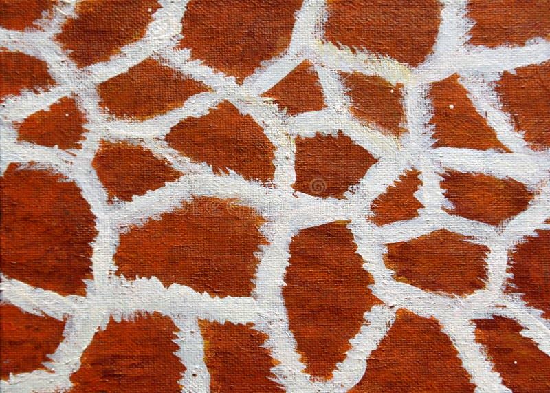 Abstrakt textur av hud för giraff` s vektor illustrationer
