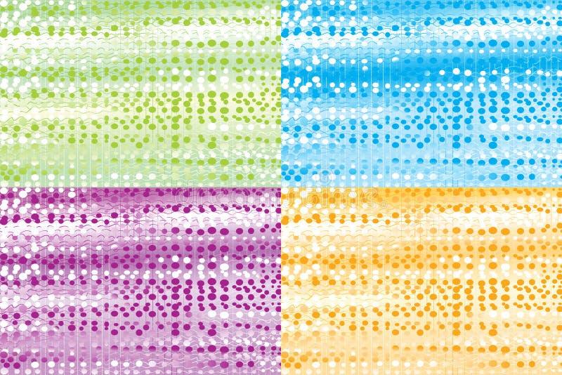 abstrakt textur för bakgrunder fyra stock illustrationer