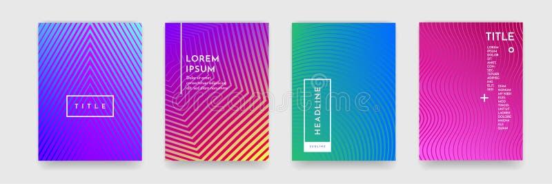 Abstrakt textur för lutningfärgmodell för uppsättning för vektor för bokomslagmall