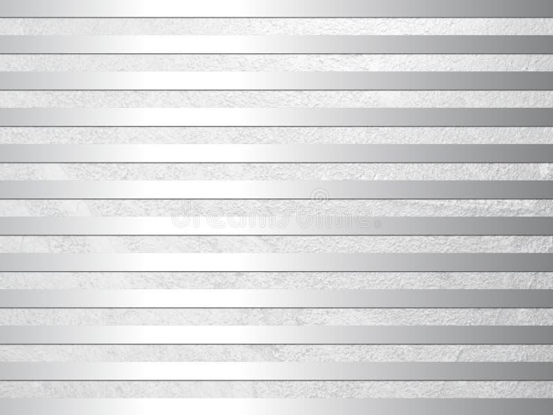 Abstrakt textur för silvergrå färgmetallbakgrund vektor illustrationer