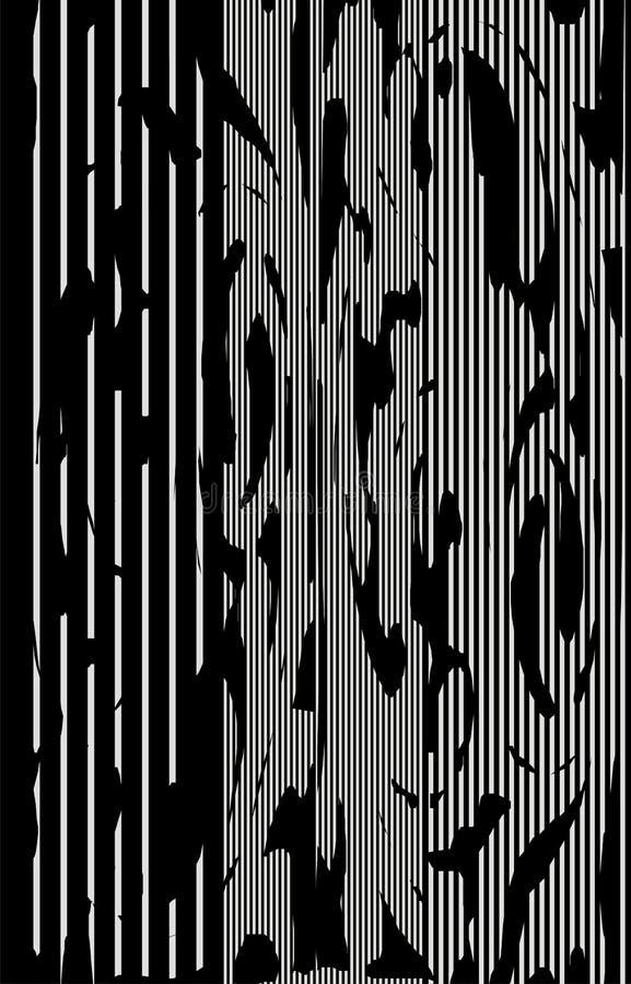 Abstrakt textur på modell för lodlinjesvart- & vitband stock illustrationer