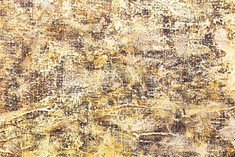 Abstrakt textured ręka malował tło z kolorem żółtym i brązem obraz stock