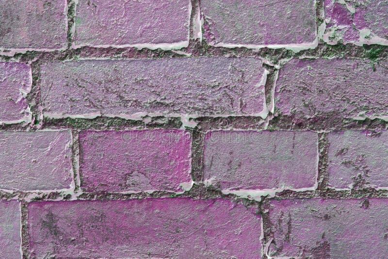 Abstrakt texturerad bakgrund: gammal rosa modell för tegelstenvägg arkivfoto