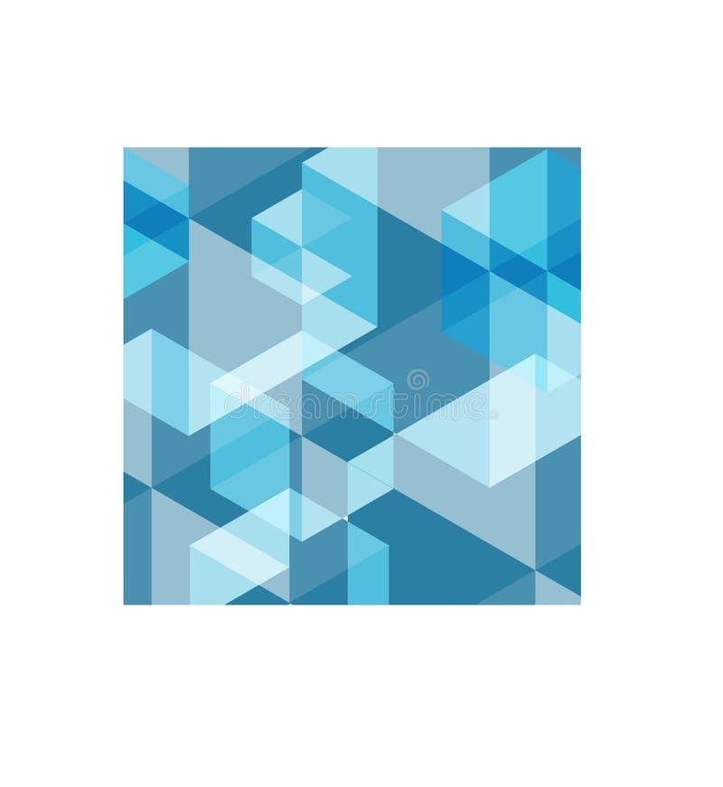 abstrakt texturerad bakgrundsblue Vektormosaikmodell för bakgrundbakgrundsdesign vektor illustrationer