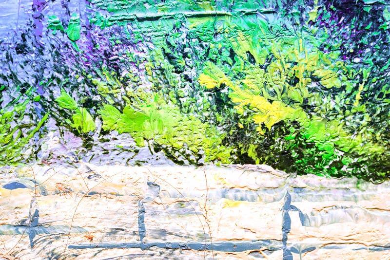 Abstrakt texturtapet för olje- målning vektor illustrationer
