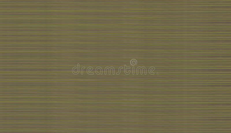 Abstrakt texturuppsättning av ljusa horisontalsmala linjer av strålar av gräsplanguling på en brunt stock illustrationer
