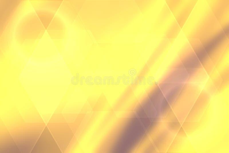 abstrakt texturyellow Abstrakt festlig guld- bokehbakgrund med defocused ljus stock illustrationer