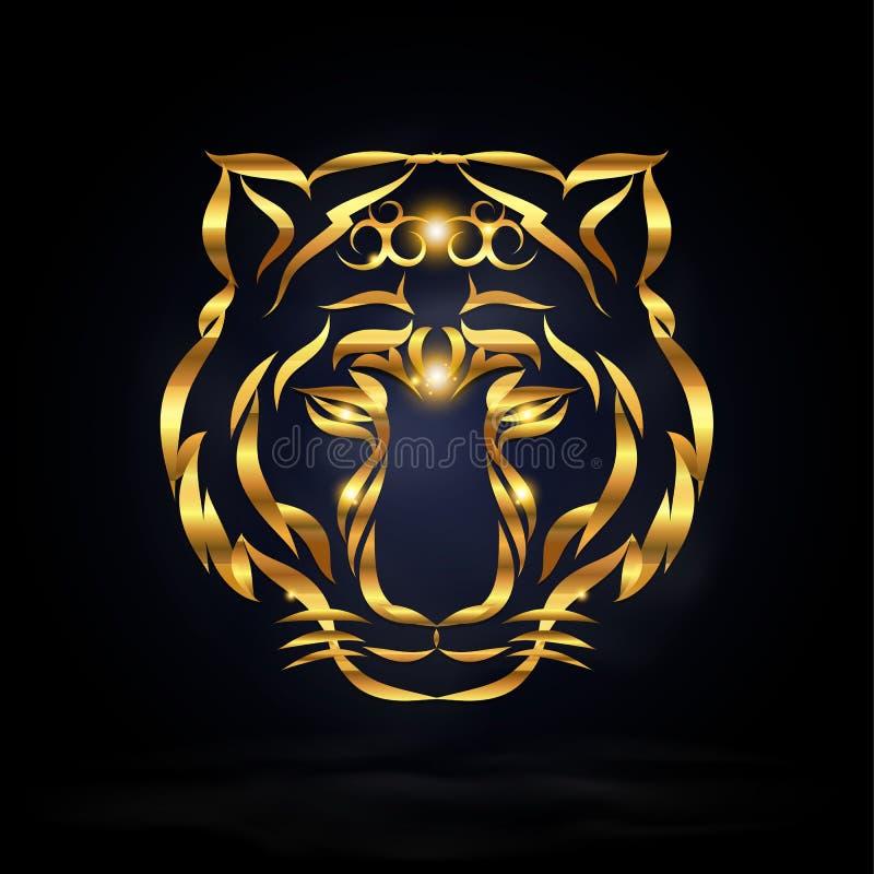 abstrakt tiger vektor illustrationer