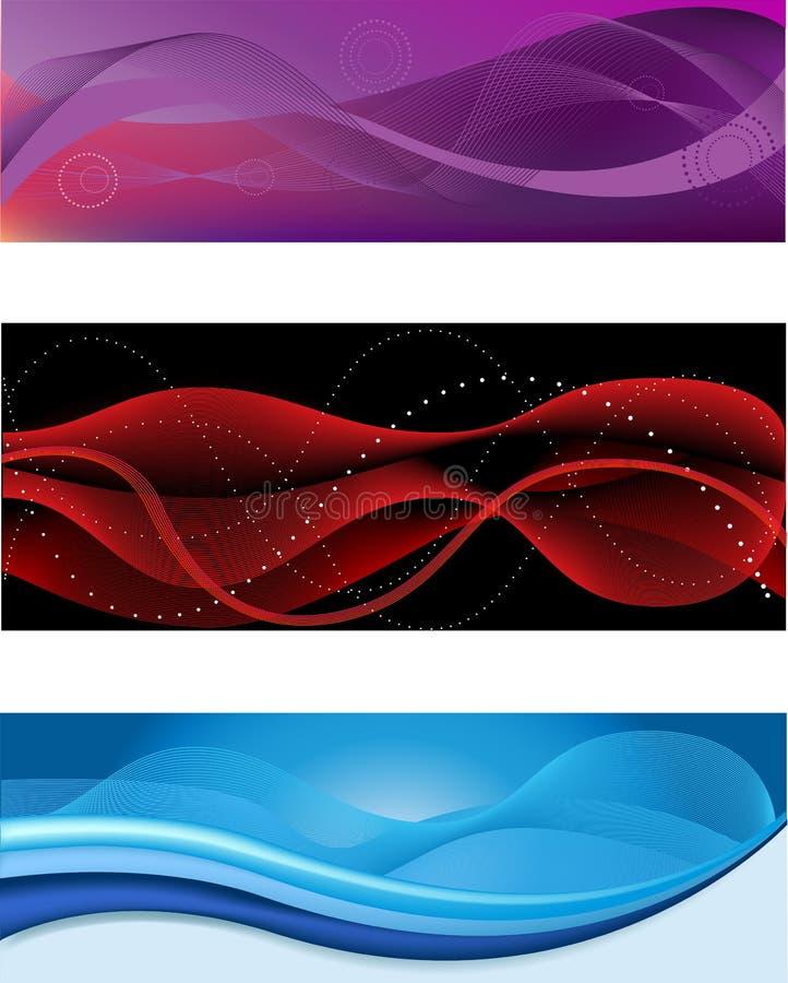 abstrakt titelradrengöringsduk royaltyfri illustrationer