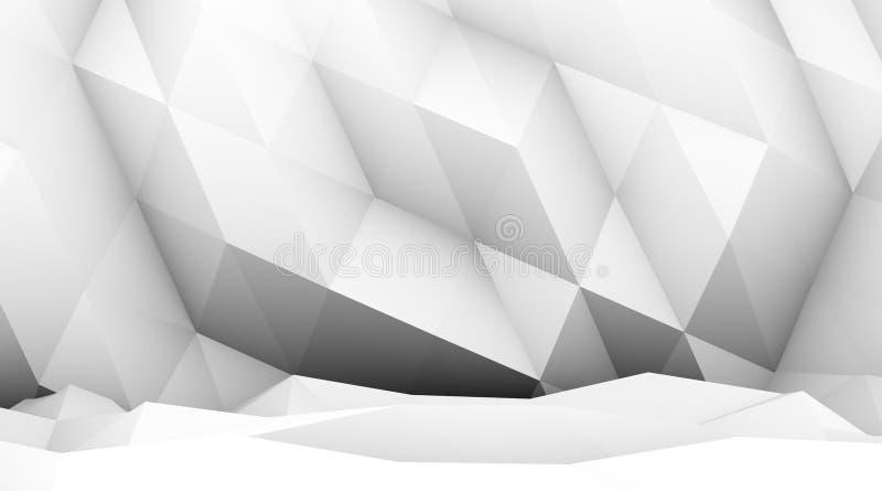 Abstrakt tolkning 3d av triangulated yttersida modern bakgrund royaltyfri illustrationer