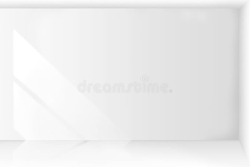 Abstrakt tom inre för vitt rum för arkitektur med väggar royaltyfri illustrationer
