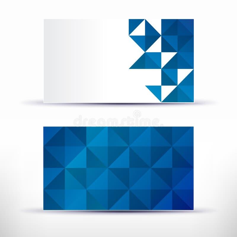 Abstrakt tom mall för känt kort för affärskonstverk stock illustrationer