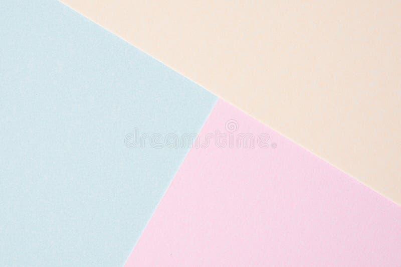 Abstrakt tomt papper för pastellfärgad färg; idérik designbakgrund royaltyfri bild