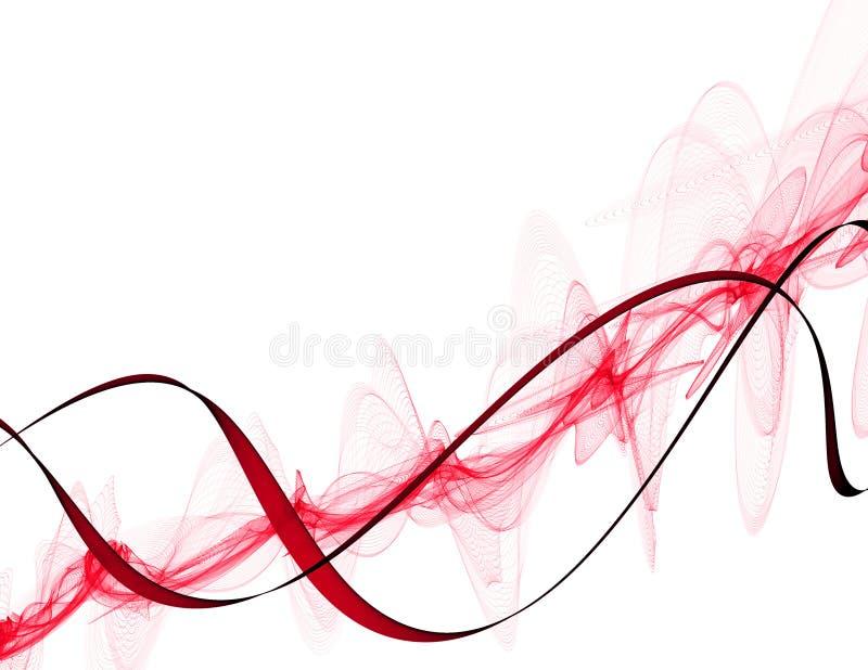 Abstrakt ton av den röda rosa fantasilinjen bakgrund royaltyfri illustrationer