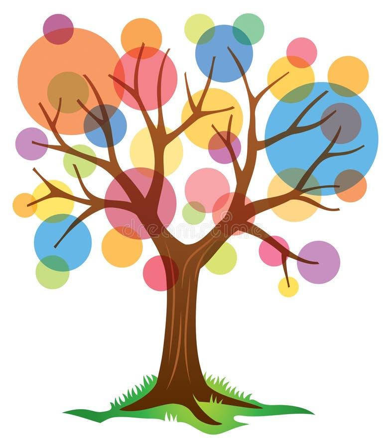 Abstrakt träd royaltyfri illustrationer