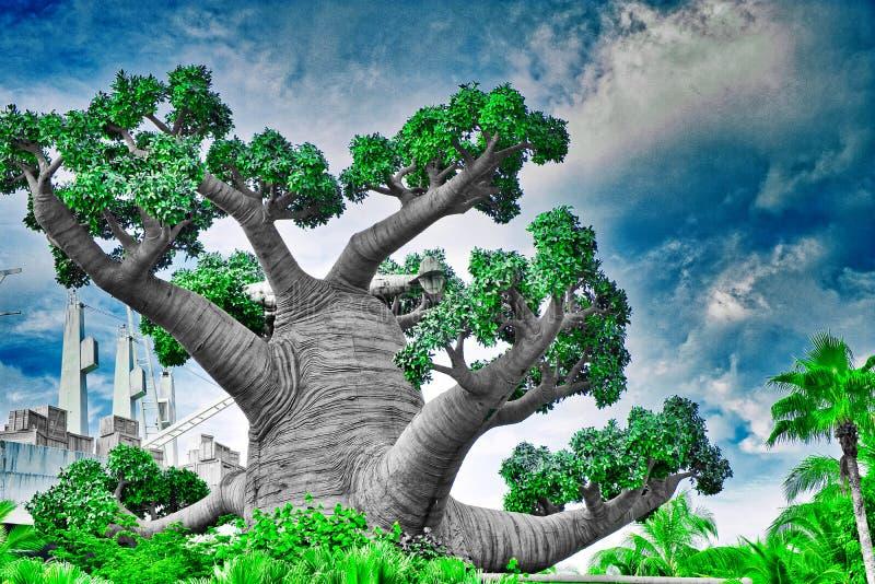 Abstrakt träd singapore royaltyfria foton