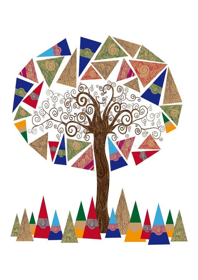 Abstrakt trädbegrepp vektor illustrationer