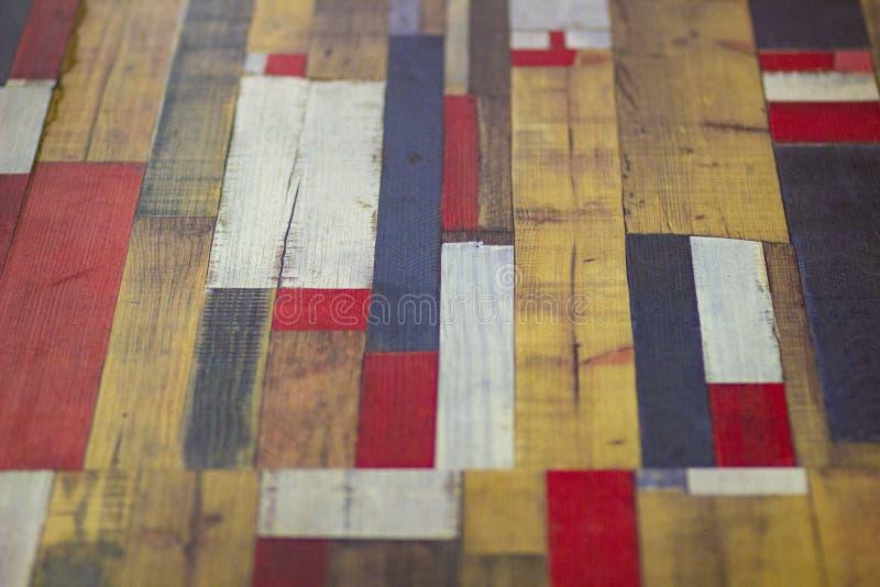 Abstrakt träekparkett för färg på golvet royaltyfri foto